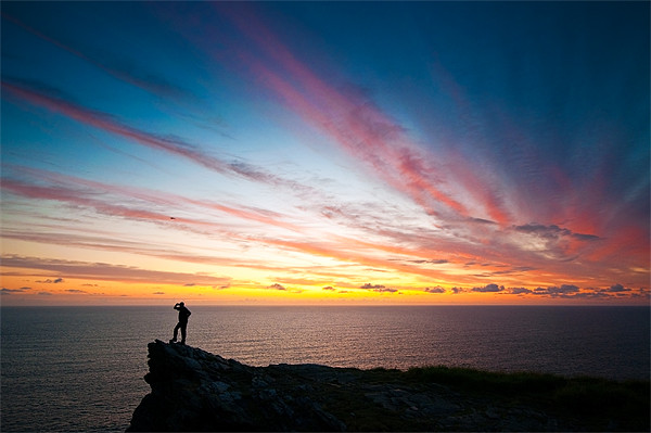 Sunset At Cornwall Canvas print by Jason Connolly
