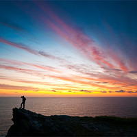 Buy canvas prints of Sunset At Cornwall by Jason Connolly
