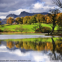 Buy canvas prints of Reflections At Loughrigg Tarn by Jason Connolly