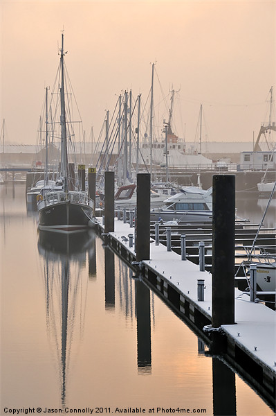 Frosty Freeport Canvas print by Jason Connolly