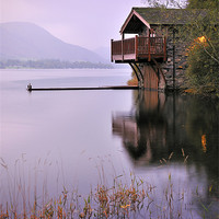 Buy canvas prints of Lakeside Boathouse, Ullswater by Jason Connolly