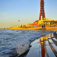Buy canvas prints of Golden Hour At Blackpool by Jason Connolly