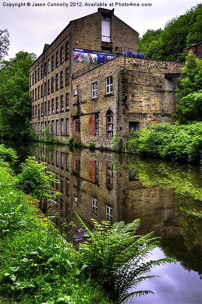 Warehouse, Rochdale canal Canvas Print by Jason Connolly
