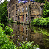 Buy canvas prints of Warehouse, Rochdale canal by Jason Connolly