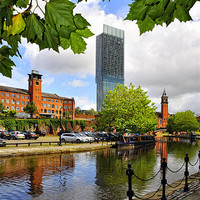 Buy canvas prints of Castlefield Reflections by Jason Connolly