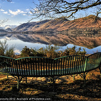 Buy canvas prints of Derwentwater Bench Views by Jason Connolly