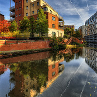 Buy canvas prints of Rochdale Canal, manchester by Jason Connolly
