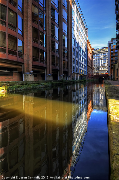 Rochdale Canal Reflections Canvas Print by Jason Connolly