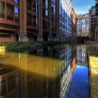 Buy canvas prints of Rochdale Canal Reflections by Jason Connolly