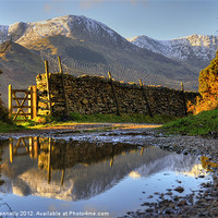 Buy canvas prints of Puddle Lane Little Langdale by Jason Connolly