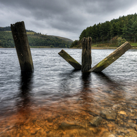 Buy canvas prints of  Derwent Reservoir, Derbyshire. by Jason Connolly