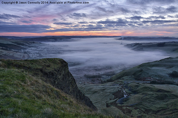 Hope Valley At Sunrise Canvas Print by Jason Connolly