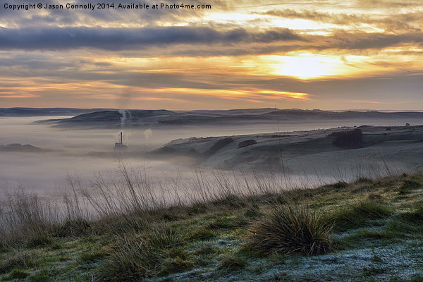 Sunrise Over Hope Valley Canvas Print by Jason Connolly