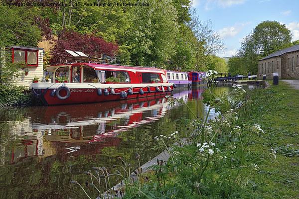 Rochdale Canal, Hebden Bridge Canvas Print by Jason Connolly