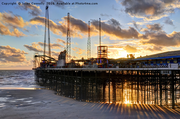 South Pier Sunset Canvas print by Jason Connolly