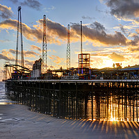 Buy canvas prints of South Pier Sunset by Jason Connolly