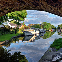 Buy canvas prints of Lancaster Canal Reflections by Jason Connolly