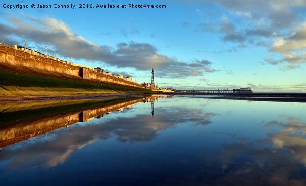 Blackpool Reflections Canvas print by Jason Connolly