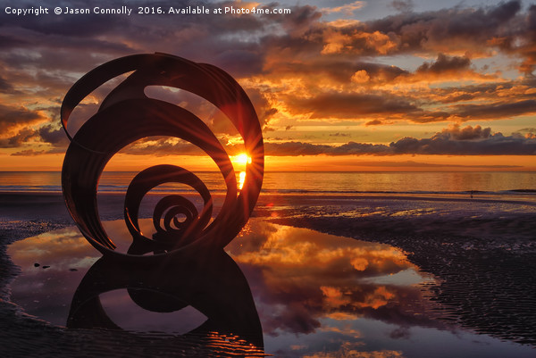 Mary's Shell At Sunset Canvas print by Jason Connolly