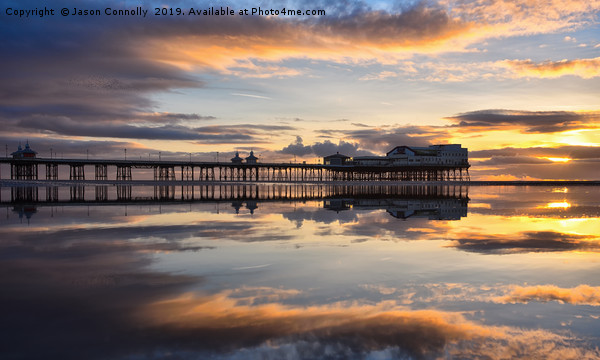 Blackpool Sunset Reflections Canvas print by Jason Connolly
