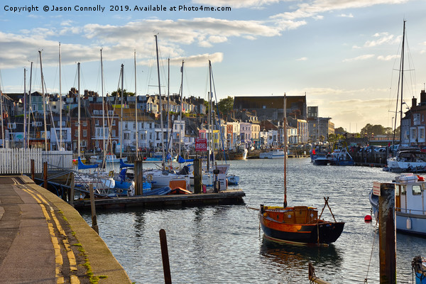 Weymouth Harbour. Canvas print by Jason Connolly