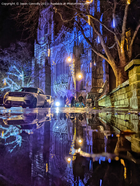 York Minster Reflections. Framed Print by Jason Connolly