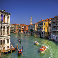Buy canvas prints of Light Traffic on the Grand Canal by Tom Gomez