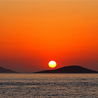 Buy canvas prints of Dodecanese sunset by Tom Gomez