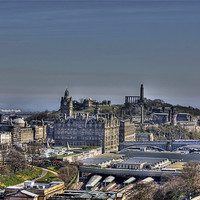 Buy canvas prints of The view to Calton Hill by Tom Gomez