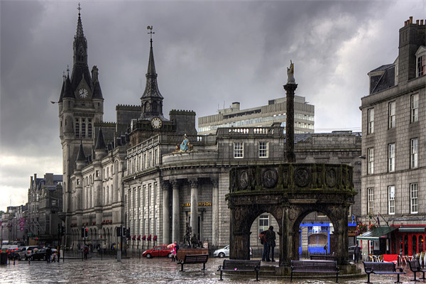 The Castlegate in the driving rain Canvas print by Tom Gomez