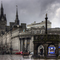 Buy canvas prints of The Castlegate in the driving rain by Tom Gomez