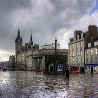 Buy canvas prints of Aberdeen in the rain by Tom Gomez