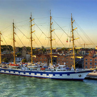 Buy canvas prints of Royal Clipper by Tom Gomez