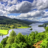 Buy canvas prints of Looking over Loch Tummel by Tom Gomez