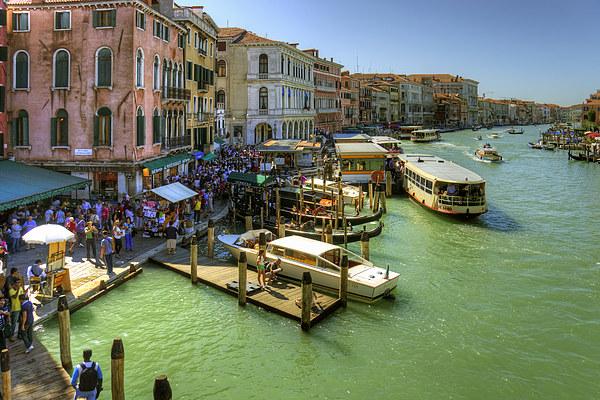 Crowded Venice Canvas print by Tom Gomez