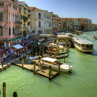 Buy canvas prints of Crowded Venice by Tom Gomez