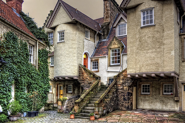 Steps in White Horse Close Canvas print by Tom Gomez