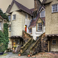 Buy canvas prints of Steps in White Horse Close by Tom Gomez