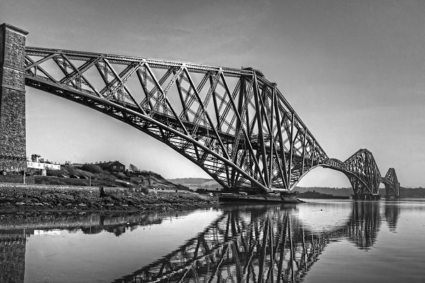 North Queensferry Reflections - B&W Canvas print by Tom Gomez