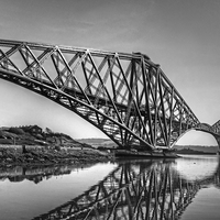 Buy canvas prints of North Queensferry Reflections - B&W by Tom Gomez