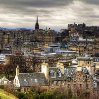 Buy canvas prints of Grey Skies over the Old Town by Tom Gomez