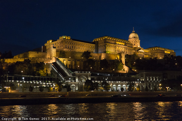 Buda Castle from the Danube Canvas print by Tom Gomez