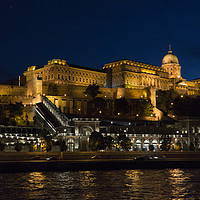 Buy canvas prints of Buda Castle from the Danube by Tom Gomez