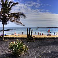Buy canvas prints of Las Cucharas Beach by Tom Gomez