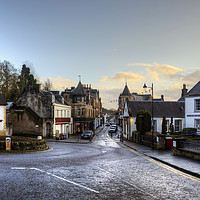 Buy canvas prints of Dunblane High Street by Tom Gomez