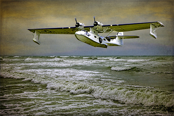 Catalina Flying Boat Canvas print by Chris Lord's Pixielated Pixels
