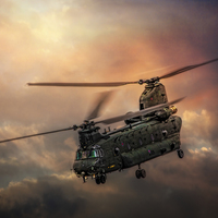 Buy canvas prints of Boeing CH-47 Chinook by Chris Lord's Pixielated Pixels
