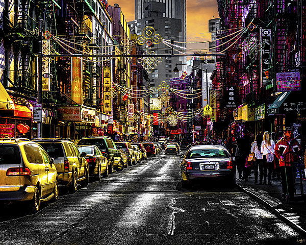 Chinatown Sunset Canvas print by Chris Lord's Pixielated Pixels