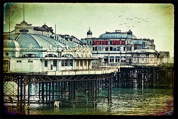 Brighton's Victorian West Pier Canvas print by Chris Lord's Pixielated Pixels