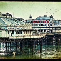 Buy canvas prints of Brighton's Victorian West Pier by Chris Lord's Pixielated Pixels